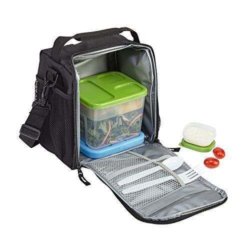 Lunch Box Cooler Bag School Kids College Sports Picnic Meal Fresh Gift Black NEW #LunchBoxCoolerBag