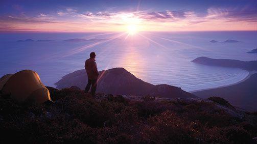 Mount Oberon Summit, Gippsland, Victoria, Australia