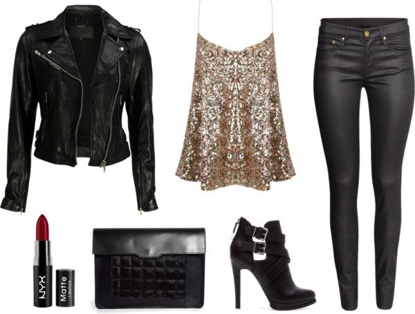leather + sequins