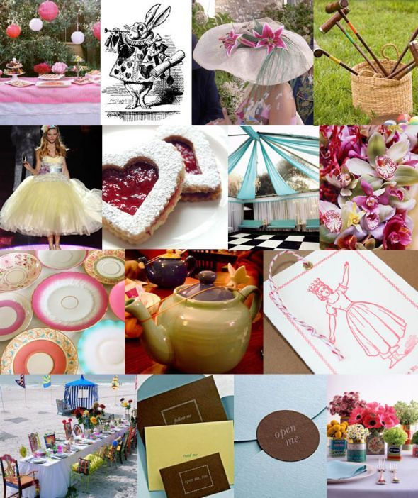 Vintage Alice in Wonderland idea help! :  wedding alice in wonderland theme vintage Inspiration Board 16