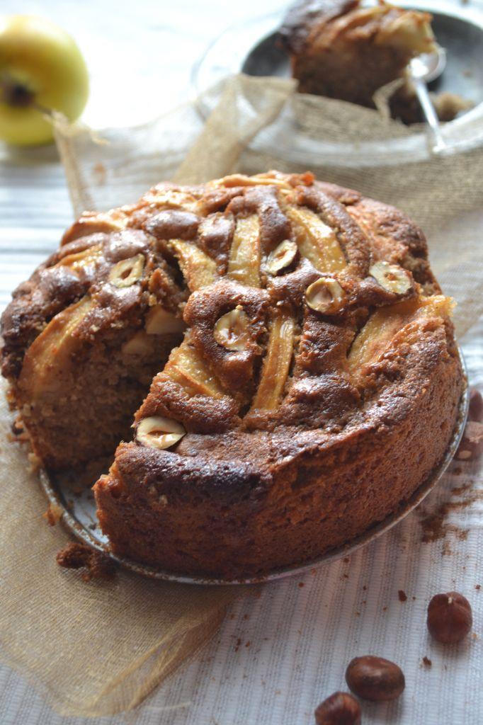 gâteau pomme cannelle et noisettes