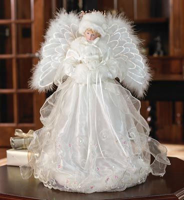 Fiber Optic Angel Christmas Tree Topper