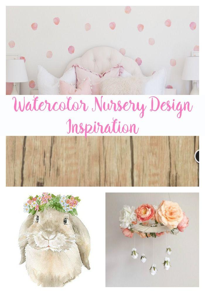 Rose Watercolor Nursery Design Inspiration [ad]