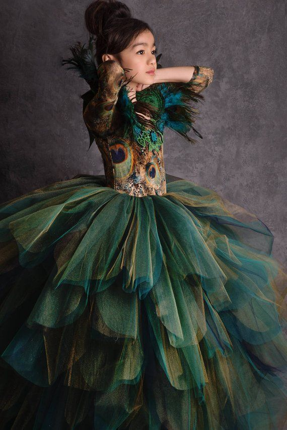 LIMITED EDITION Couture Peacock Gown  cc461fbbe3e1