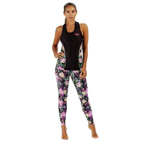 Tikiboo Neon Flower Activewear Set #Activewear #Gymwear #FitnessLeggings #Leggings #Tikiboo #Running #Yoga