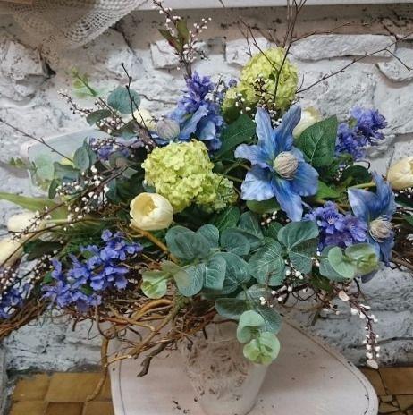 bukiet kwiatów sztucznych wykonany w   https://www.facebook.com/KwiaciarniaWena/