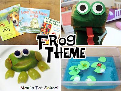 Mom's Tot School: Frog Theme: Classroom Idea, Frogs Themed, Frogs Activities, Schools Stuff, Mom Tots, Cities Dogs, Preschool Crafts, Tots Schools Themed, Frogs Crafts