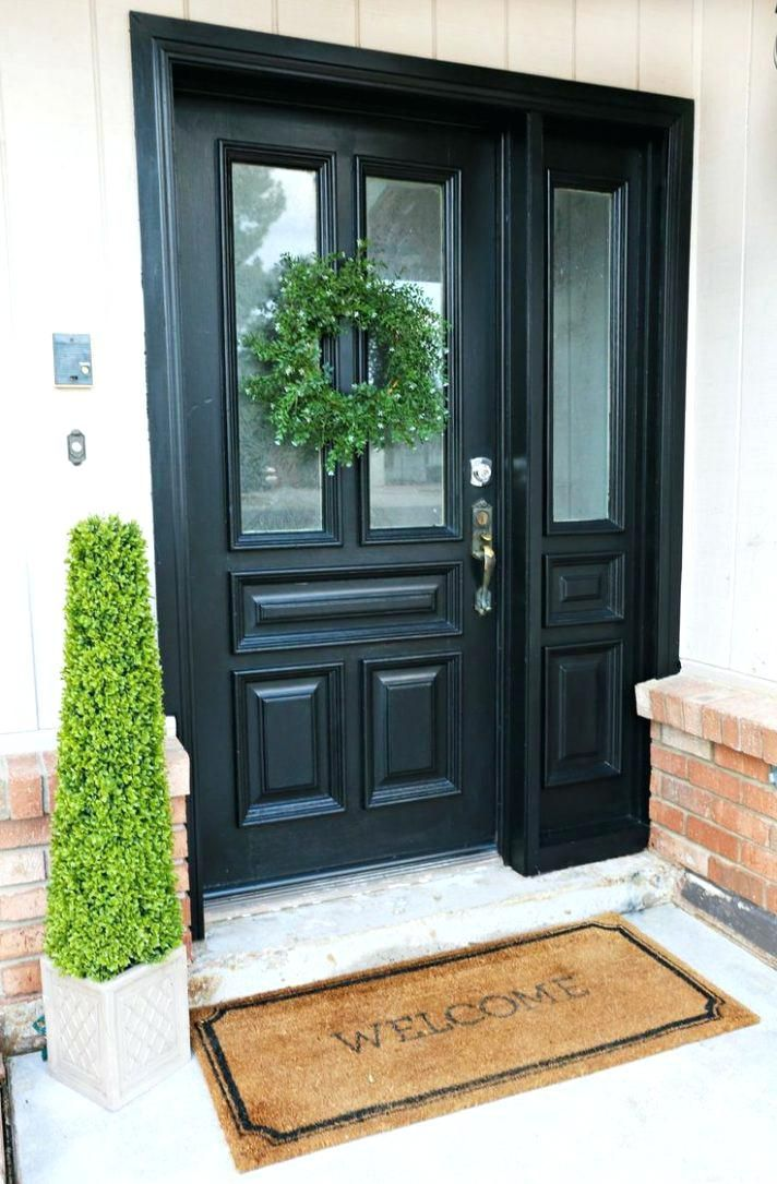 Front Door Styles For Colonial Homes Colonial Interior Door Styles Front Door Colors For Brown House Painted Front Doors Front Door Makeover Front Entry Doors