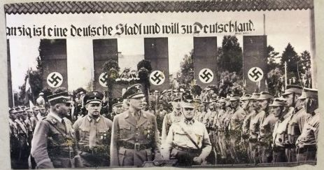 The City of Shadows: Danzig's Nazi Gauleiter Albert Forster, reviews his Brownshirts: 'Danzig Is German and Will Return to Germany!'