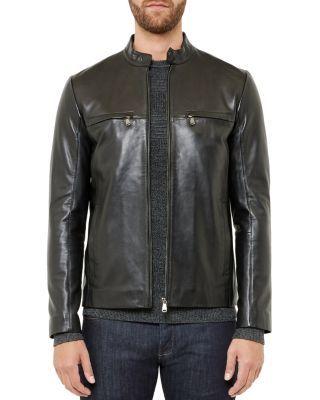 Ted Baker Pablo Leather Jacket | Bloomingdale's