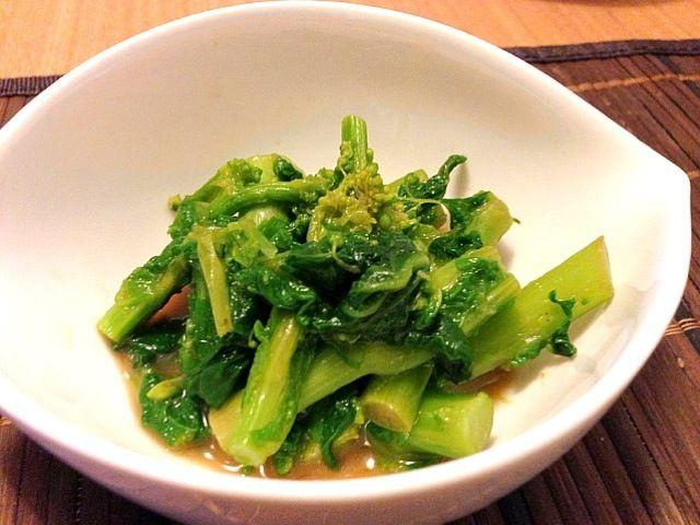 初物。春の味だね꒰*´∀`*꒱ - 44件のもぐもぐ - 菜の花のからし和え by ウサコ