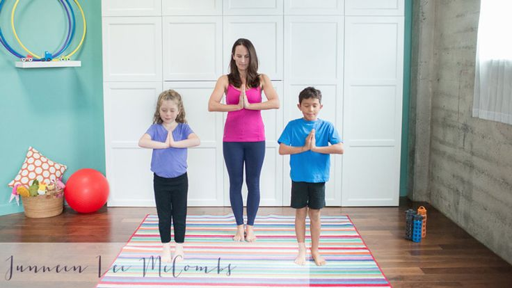 Bedtime Yoga with kids