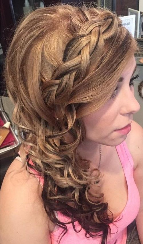 45 Side Hairstyles For Prom To Please Any Taste Side Hairstyles Side Curly Hairstyles And