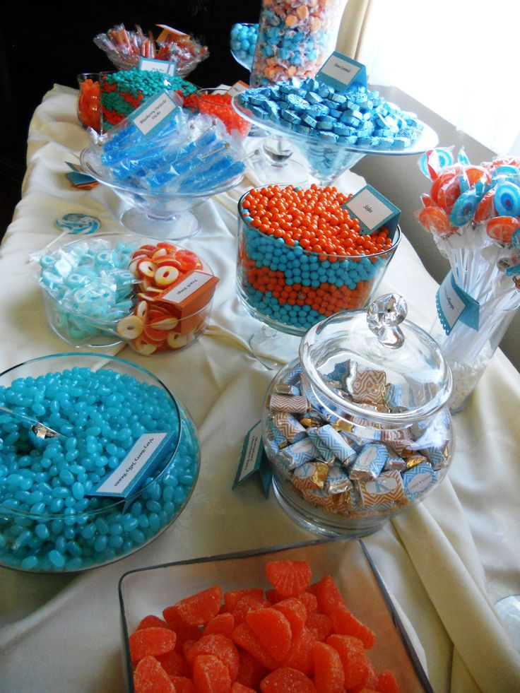 Featured color splash: Turquoise and Tangerine. -- my wedding will most definitely have CANDY!!! ;)