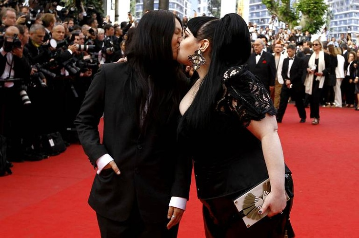 Beth Ditto and her girlfriend/wife Kristen Orgata (With