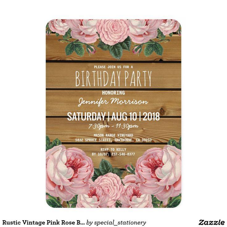 62 best {BIRTHDAY INVITATIONS} images on Pinterest | Birthday ...