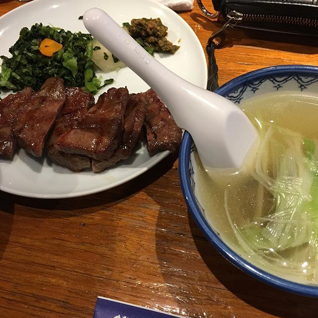 大阪・心斎橋→吉次  やっぱり牛タンと言えば吉次‼︎ 厚切りの牛タン・テールスープは流石の一言‼︎ #東京#大阪#名古屋#福岡#三重#吉次#牛タン#テールスープ#肉