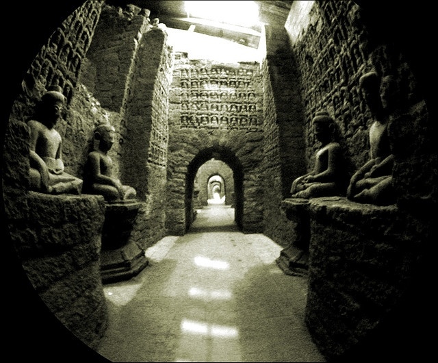 a corridor in the lower chamber, koe-thaung temple, mrauk u Visit us at www.visitmm.com