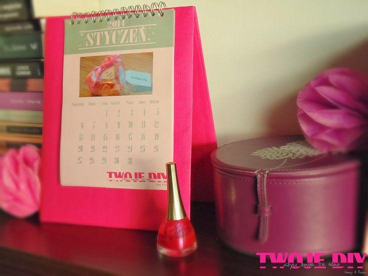 Twoje DIY - czyli zrób to sam: Kalendarz Twoje DIY 2014 Darmowy kalendarz do wydruku i diy jak wyeksponować kalendarz  i zobaczysz jak go zrobić