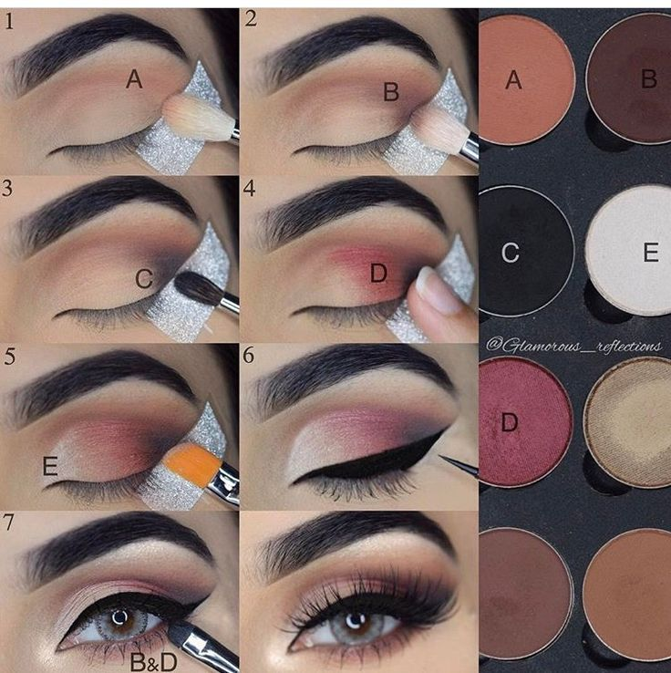 Step by step pictorial makeup look using lotusluxe eyeshadows by @glamorous_reflections