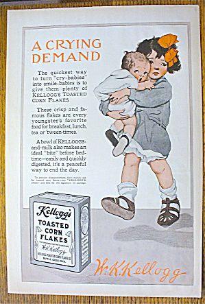 1914 Kellogg's Toasted Corn Flakes ad