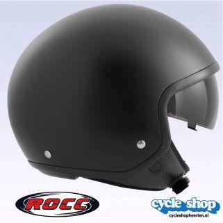 Rocc Rocc 190 Chopper helm mat zwart 421909 // // CycleShop Heerlen, Helmen, Motorkleding, Crosskleding, Motoronderdelen, Motorbanden, Beveiliging, Scooteronderdelen, Bromfietsonderdelen, Motorwinkel, CycleShop, Heerlen