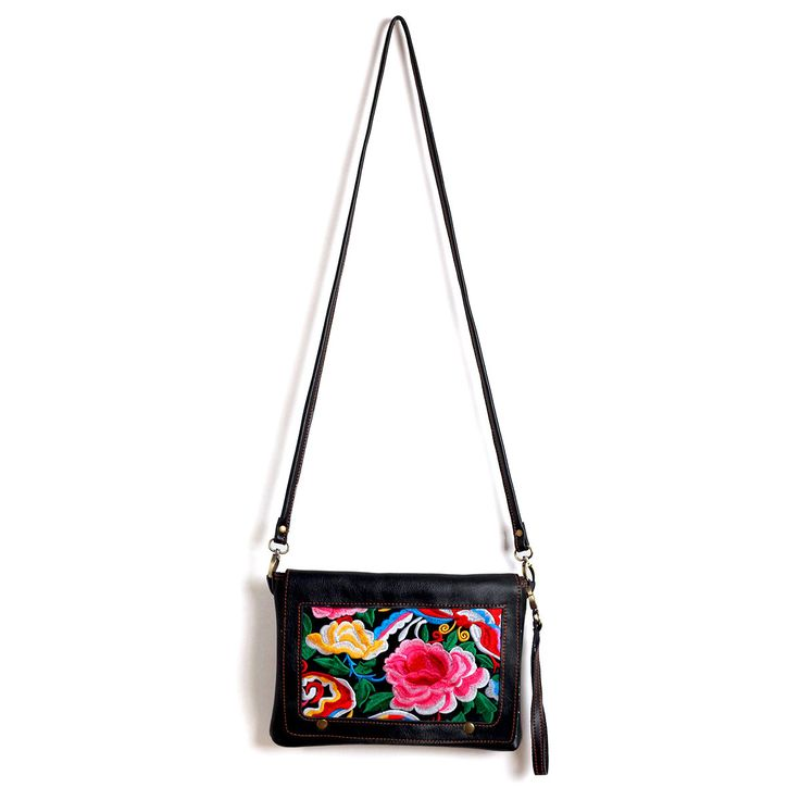Fab.com | Embroidered Leather Clutch