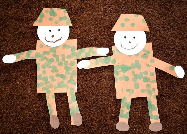 Veterans Day Craft-Soldiers