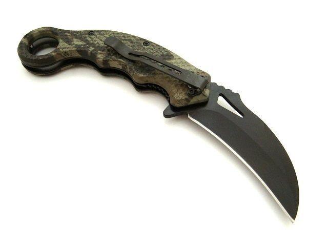 FOLDING KNIFE CARAMBIT self defense