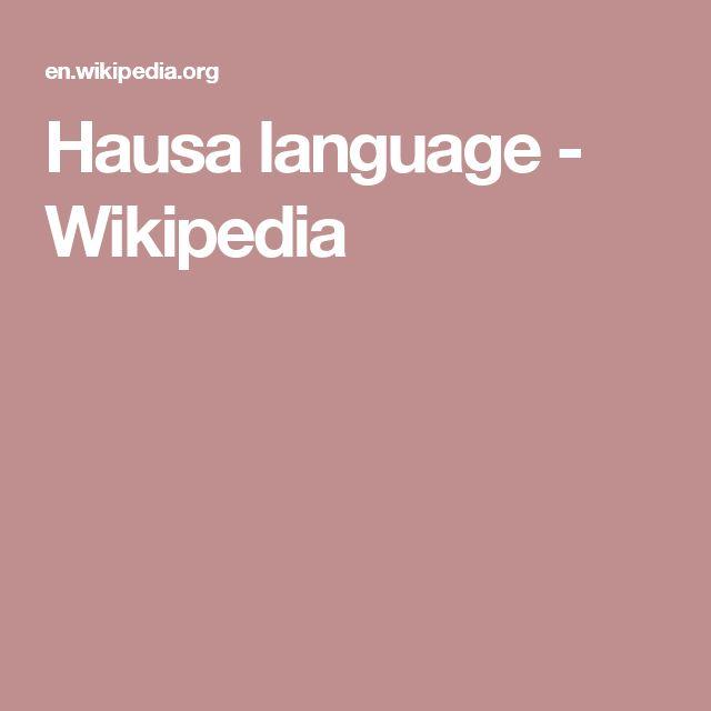 Hausa language - Wikipedia