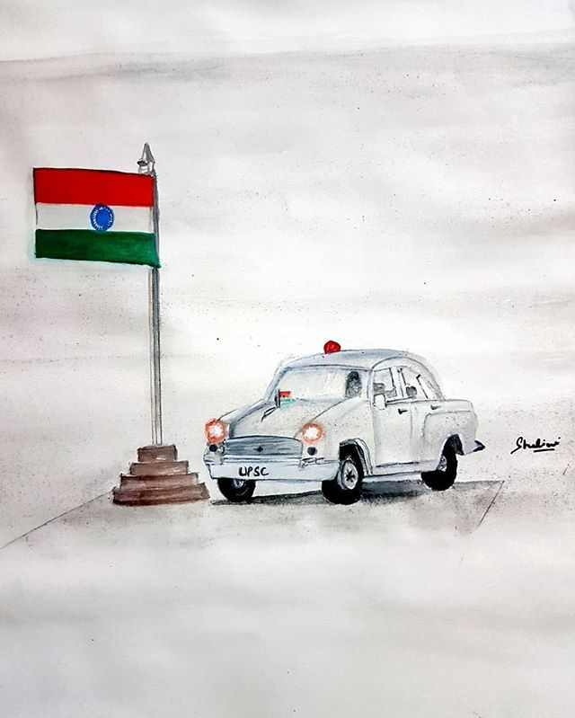 Painting by - @shalinisomavanshi #IAS #IPS #CivilServices