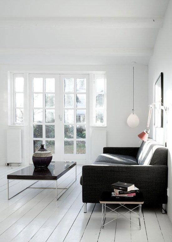 My new obsession: white wood floors. (TheDesignerPad)