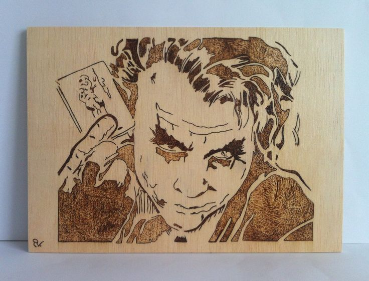 The Joker Marvel Wooden Woodburning Wood Art 28 99
