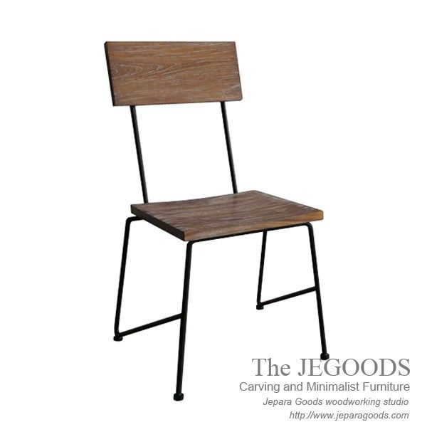 Industrial Metal Wood Rustic Chair by Jegoods Woodworking Studio Furniture Indonesia.  We produce and supply #rusticfurniture at affordable price by skilled #craftsman from Jepara, Central Java - Indonesia.