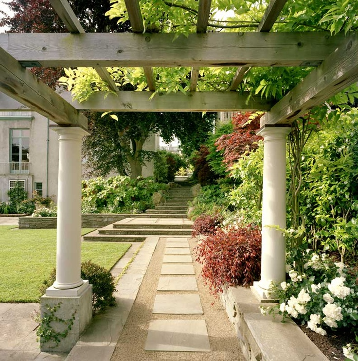 This Elegant Pergola Gives Definition To The Landscape And Acts As A Focal Area Who