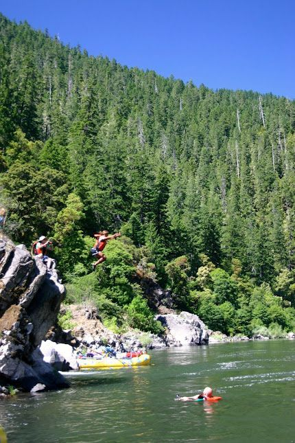 White Water Rafting the Rogue River, Oregon.