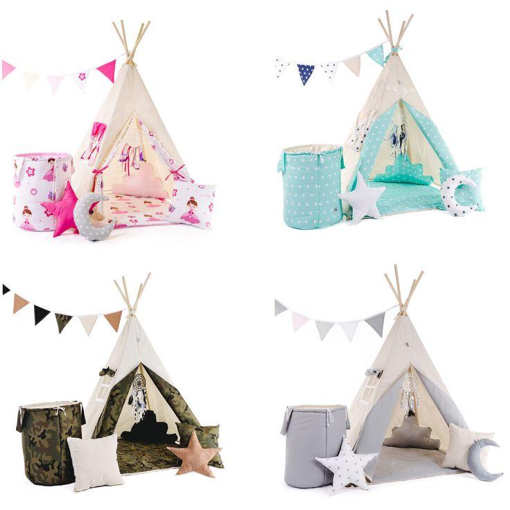 Tipi Teepee Indianerzelt Kinder Indianer Spielzelt Zelt mit und ohne Zubehör | Spielzeug, Spielzeug für draußen, Zelte | eBay!