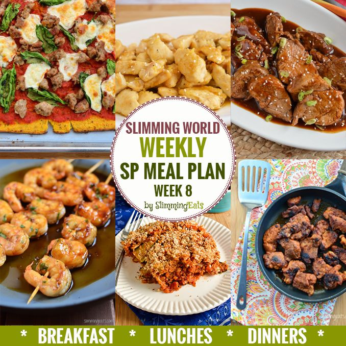 Slimming Eats SP Weekly Meal Plan - Week 8 - Slimming World - taking the work out of planning so you can just cook and enjoy the food.