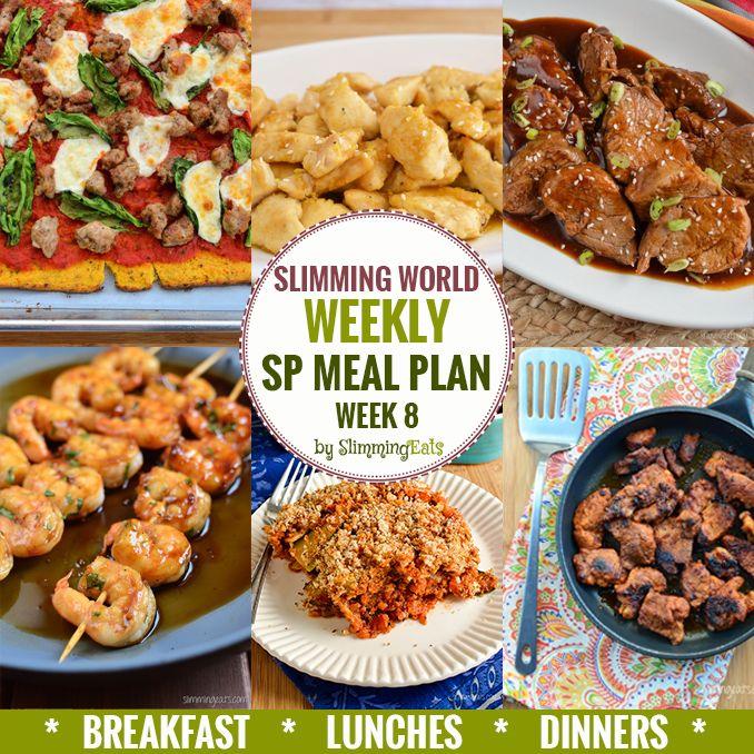 Slimming Eats SP Weekly Meal Plan – Week 8