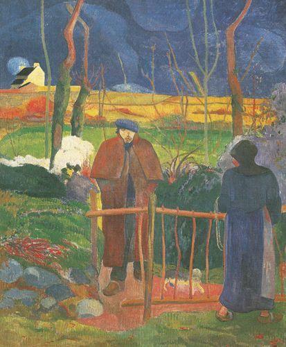 Bonjour. Monsieur Gauguin - 1889 - Gauguin Paul - Opere d'Arte su Tela - Listino prodotti - Digitalpix - Canvas - Art - Artist - Painting