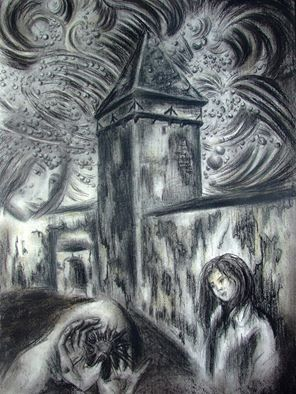 Distant Memories - charcoal on paper - by ThierryJoKane