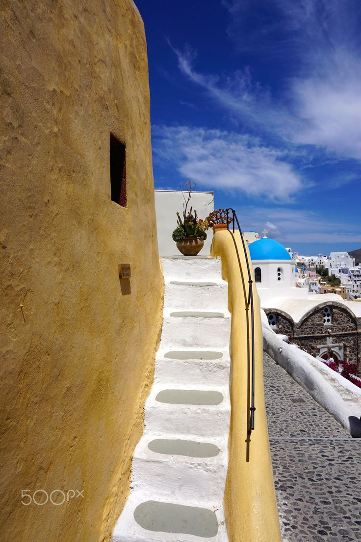 Steps in Oia village, Santorini island, Greece. - selected by www.oiamansion.com