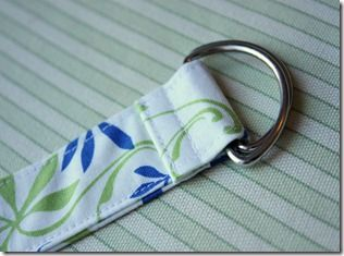 Make your own fabric belt with D rings and straight sewing. Maybe even use that new package of heavy duty stitch witchery instead of interfacing! slk