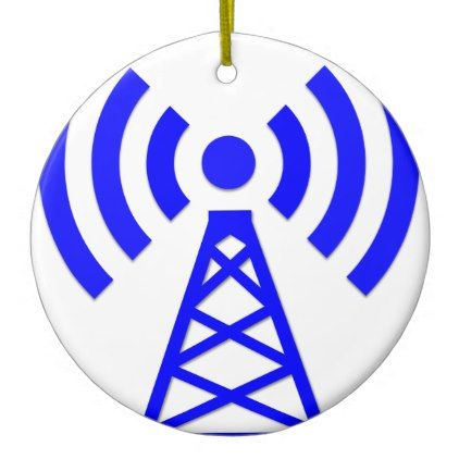 Network Tower Ceramic Ornament - home gifts ideas decor special unique custom individual customized individualized