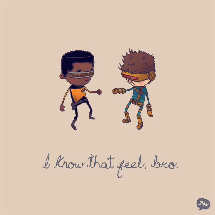 Geordi La Forge & CyclopsVisor, Geek, Nerd, Pop Culture, Feelings Bro, Stuff, Art, Funny, Chris Gerring