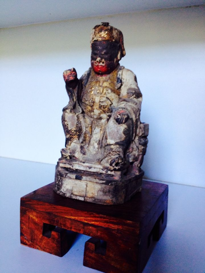 Another beautiful small Chinese figure still a bit of lacquer and indigo!