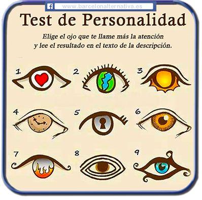 Test de Personalidad segun el Ojo