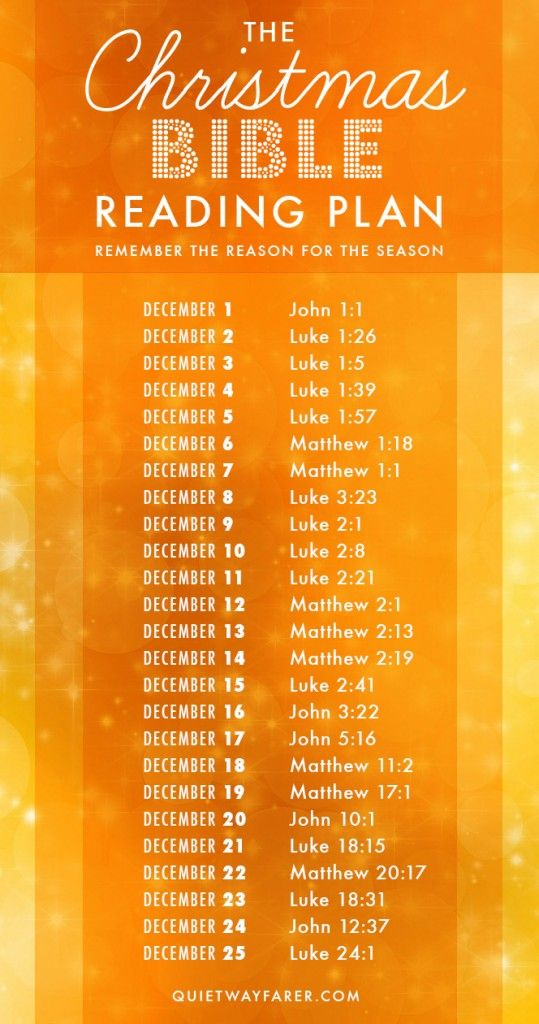 A Daily Christmas Bible Reading Plan with 25 short readings about the coming and birth of Christ. Remember the Reason for the Season! Plan by Alex Crain / Graphic by October Winds Studio (previously Quiet Wayfarer)   octoberwindsstudio.etsy.com
