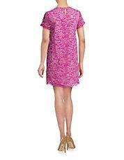 Soutache Lace Shift Dress
