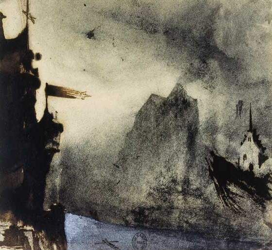 Victor Hugo, along with being one of France's greatest novelists & poets, was a very talented painter.